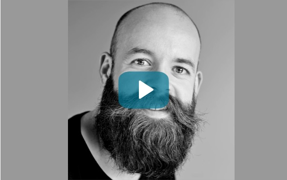 Video cap of man with beard