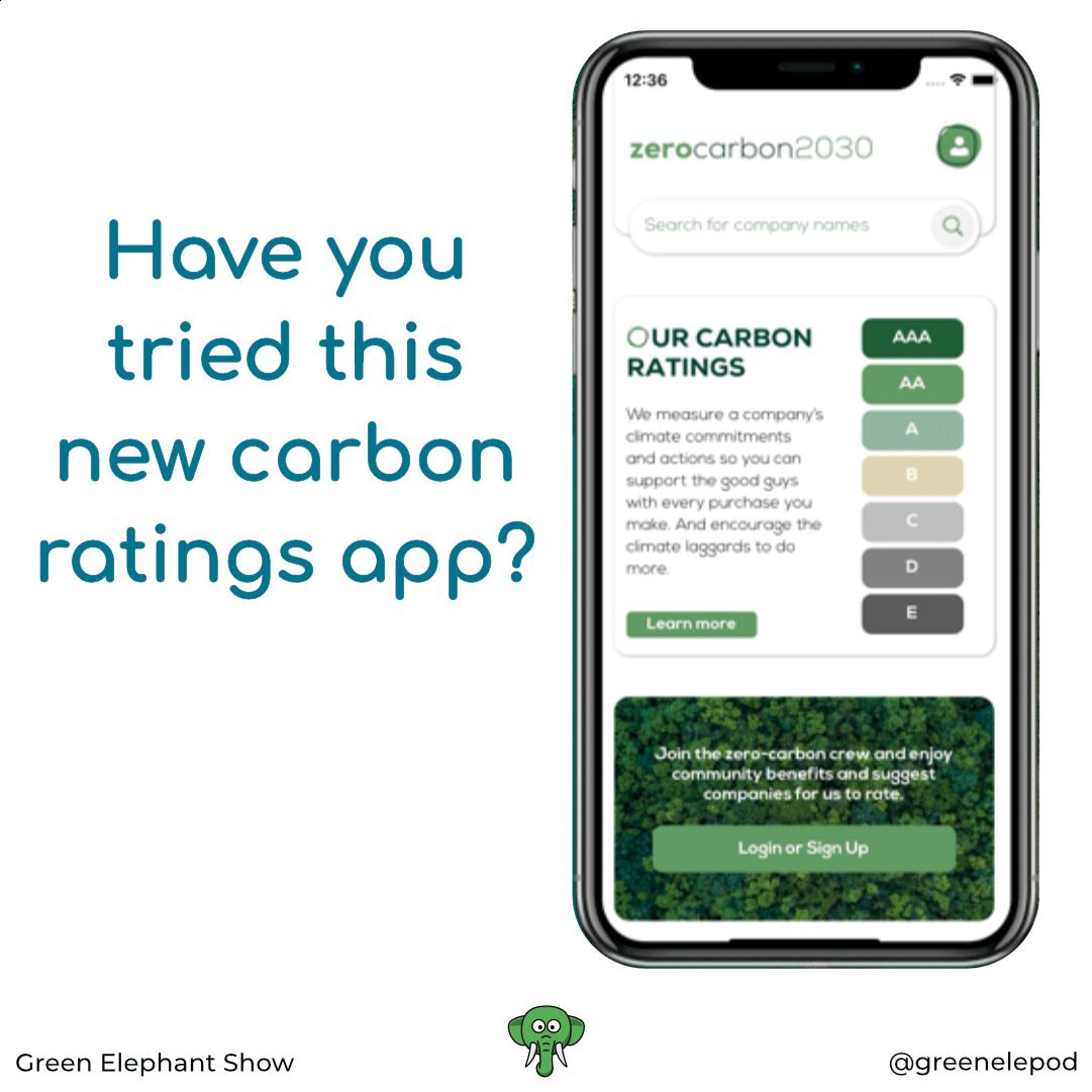 Carbon ratings app