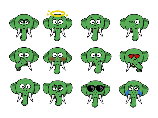 Eco the Elephant Emojis