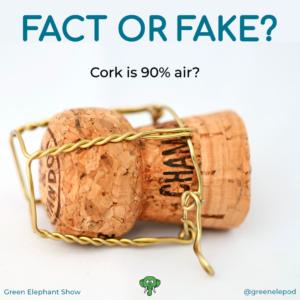 Cork is 90% air