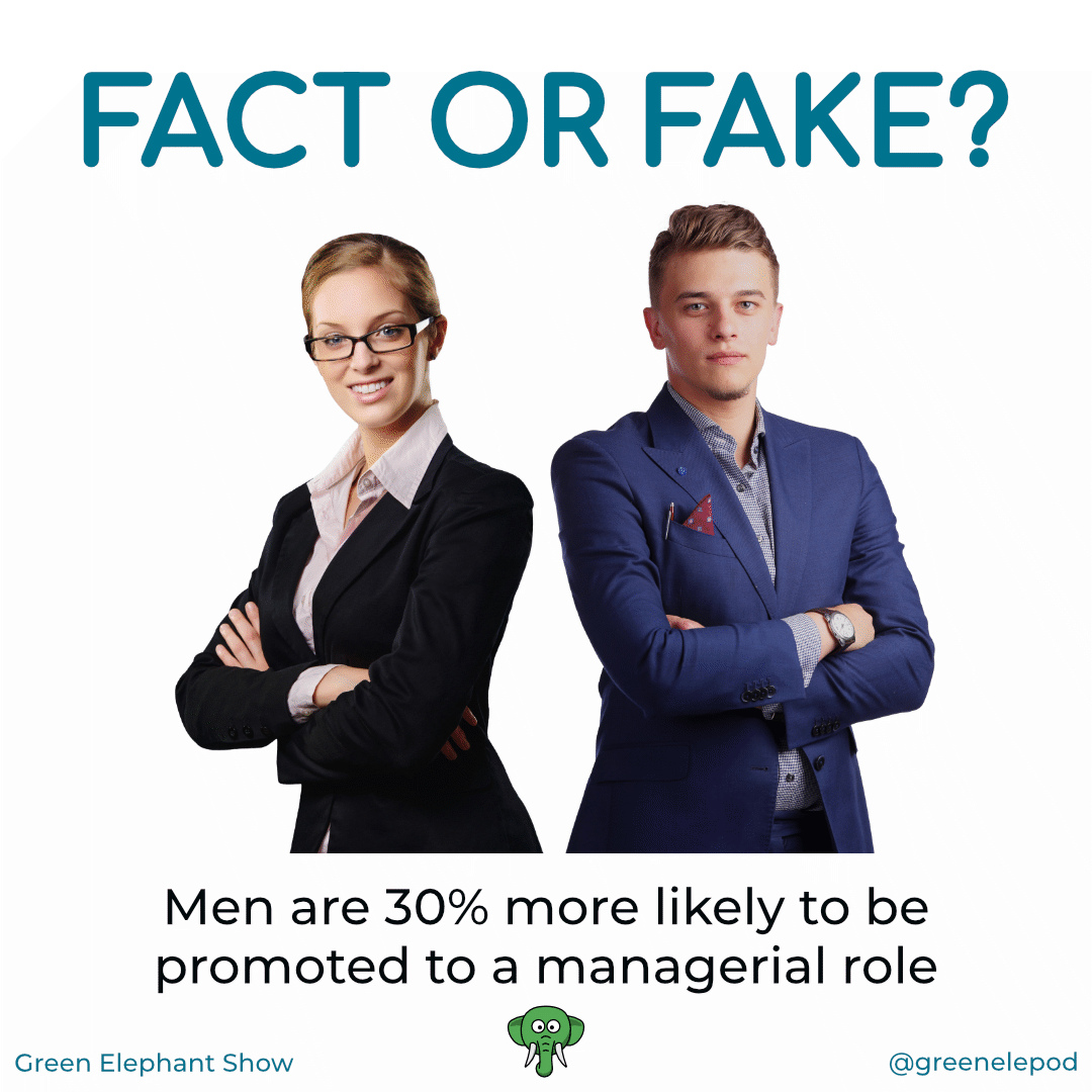Men are more likely to get promoted