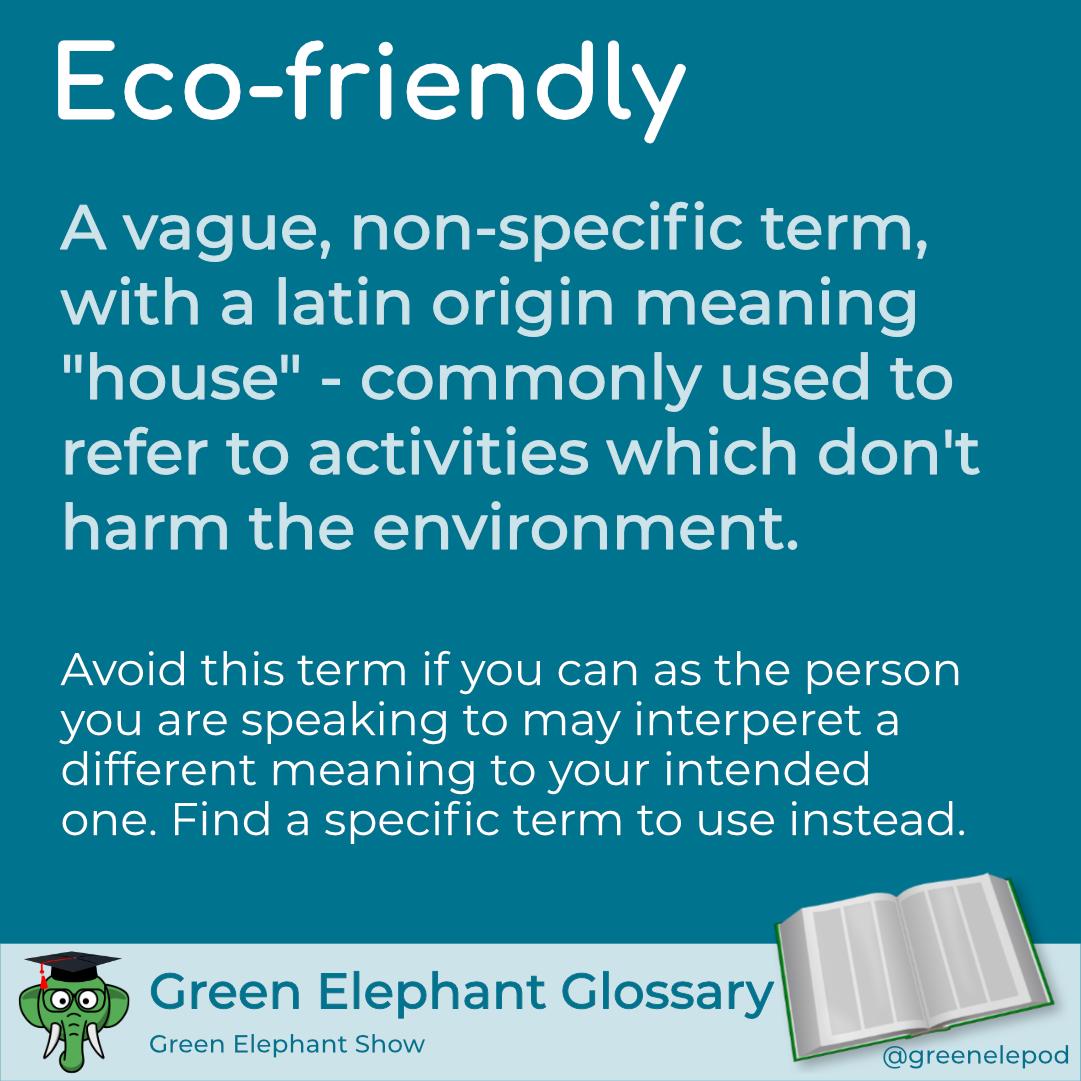 Eco-friendly definition