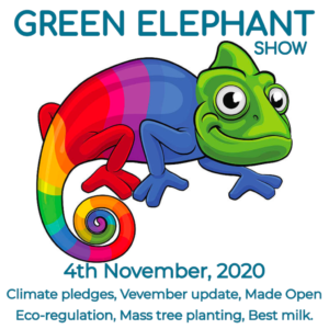 Green Elephant Show No 21 covering the latest sustainability news