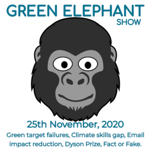 Green Elephant Show No 24 covering the latest sustainability news