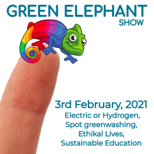 Green Elephant Show No 34 covering the latest sustainability news