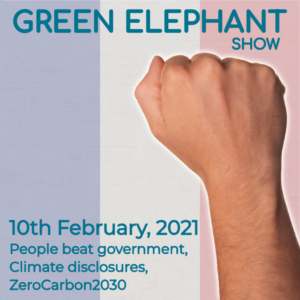 Green Elephant Show No 35 covering the latest sustainability news