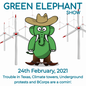 Green Elephant Show No 37 covering the latest sustainability news