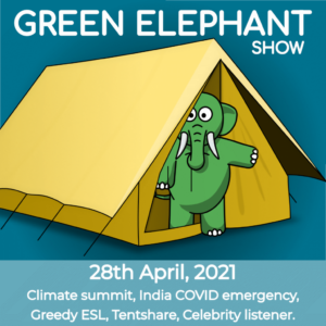 Green Elephant Show No 76 covering the latest sustainability news