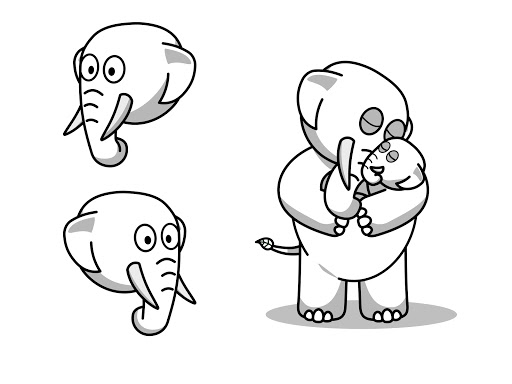 Eco the Elephant with baby